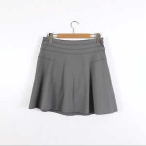 Athleta Gray Mini Skirt Built In Shorts Workout